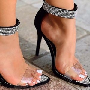 ultrachicfashion.com Shoes - Suede Crystal Embellished Heels